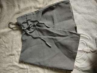 High waist checkered pants skort