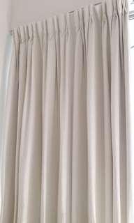 Alyssa Snow White Sun Block curtains
