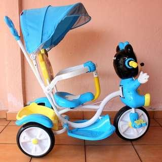 Tricycle (basikal) with Micky mouse for kids baby good condition