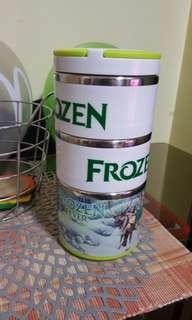 Disney Frozen fever 3 tier stainless insulated lunch pack food keeper