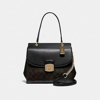AVARY FLAP CARRYALL IN SIGNATURE CANVAS (COACH F38069)
