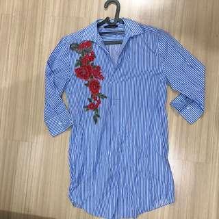 Zara Blue Floral Shirt