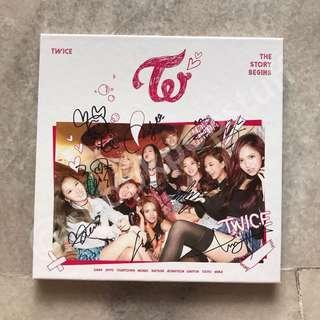 [ WTS   Auction ] Twice All Member Signed Debut Album - The Story Begins Album (from Mwave Meet and Greet)