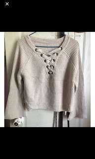 女裝秋冬帶上衣冷衫針織衫 knitwear sweater