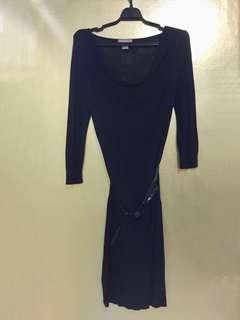Black Color Cotton On Dress