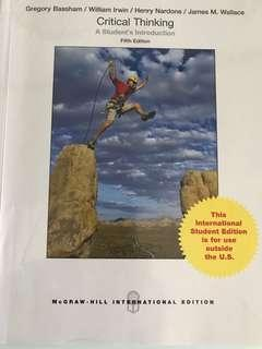 Critical Thinking - A Student's Introduction (5th Ed)