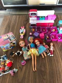 ASSORTED GIRLS TOYS