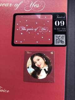 The Year of Yes Photocard and Sana Sticker