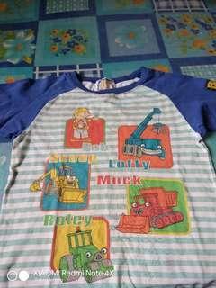 Bob The Builder Kids Baju Tee T Shirt Anime Cartoon Bundle