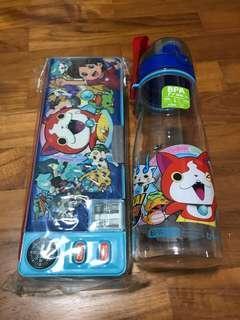 BN Yo Kai Pencil Case and Water Bottle