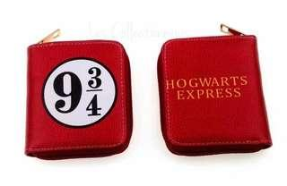 Harry Potter Zip Wallet Hogwarts Express Platform 9 3/4 Coin Purse Card Holder Zipped Around Wallet