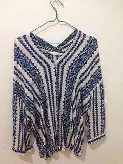 Bohemian tops outwear 2in1