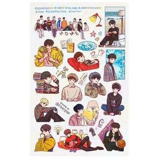 🚚 [PO] Seventeen 'HOME' sticker sheet