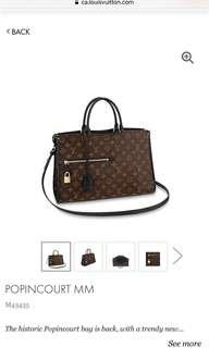 LOUIS VUITTON POPINCOURT BLACK MONOGRAM