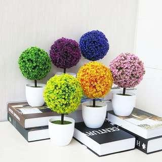 💥Art🔥Greeting Artificial Pine Potted Bonsai Fake Flowers