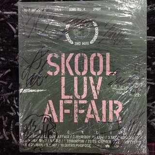 BTS SKOOL LUV AFFAIR ALL MEMBER SIGNED PROMO ALBUM
