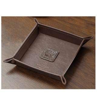 皮質鑰匙桌面雜物盤 首飾盤 收納盤 飾物盤
