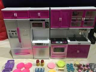 Barbie Doll Kitchen Sets With Accesories