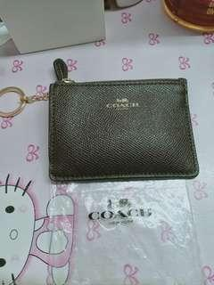 authentic coach coins purse wallet with card holder not ks,mk,dkny