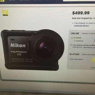 Nikon KeyMisson 170 waterproof/shockproof 4K action camera