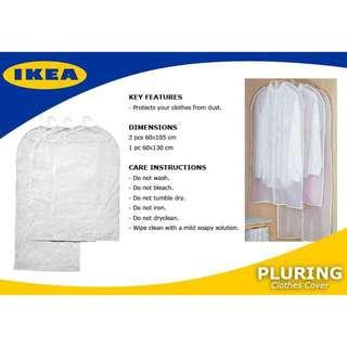 IKEA PLURING Clothes cover, set of 3, transparent white