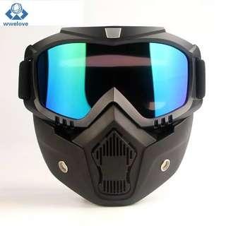 Goggle Google Mask Masker Helm Kacamata Masker Helm Retro Bogo
