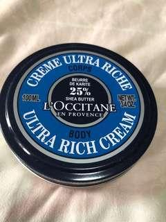 L'Occitane ultra rich cream Shea butter