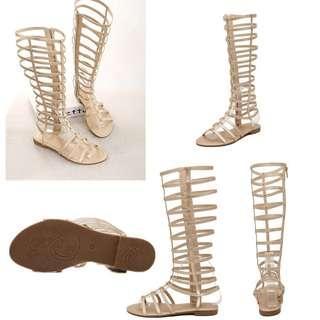 Gladiator Gold Sandals