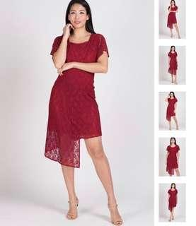 BN Jump Eat Cry Maternity/nursing Red Dress (L size)