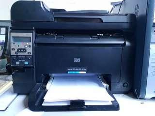 HP Laser Printer with flat-bed scanner