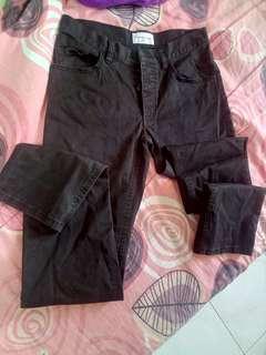 [Free Post sm] Black Straight Cut Pants Botton #MMAR18