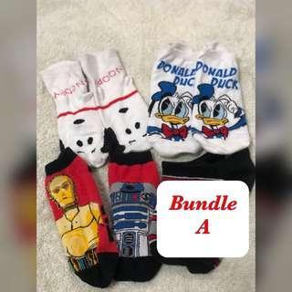 Character socks Bundle A