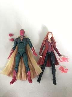 Marvel Legends vision & scarlet witch