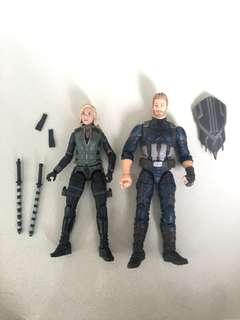 Marvel Legends captain America & Black widow