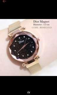 Jam tangan Dior tali magnet