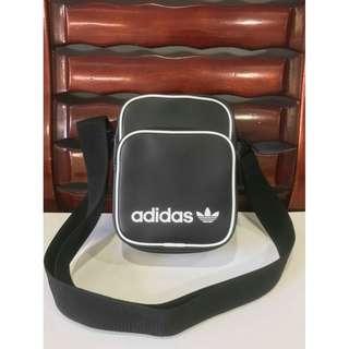 a5fc00dc72c3 Adidas Leather Sling bag black
