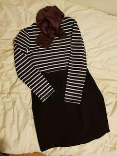 (M/L) Classic Business Skirt