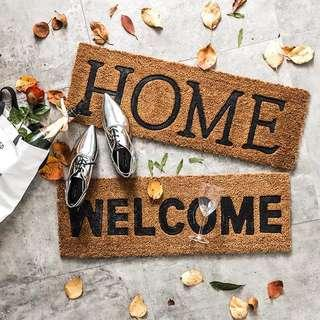 Welcome Home Coconut Husk Door Floor Mat