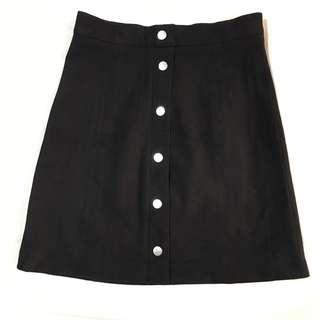 H&M Suede Buttoned Up Skirt