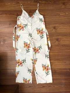 Top shop floral jump suit