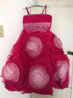 Fuchsia pink gown for sale