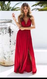 Red Chiffon Boutique dress