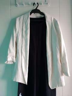 Off white h&m blazer cottom