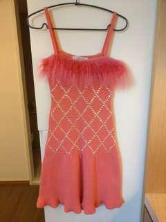 🎉全新🎉日本pinky girls毛毛亮片針織洋裝