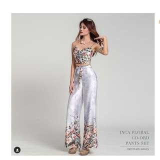 RENT floral two piece jumpsuit set