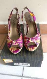 Purple / multi colored  fashion high heels