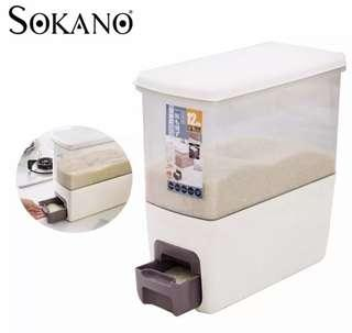 Japanese Rice Dispenser Food Storage Container Box 12kg