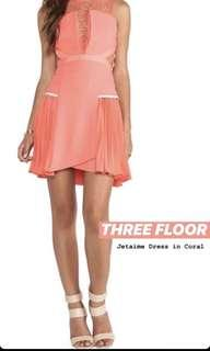 Three floor jetaime dress in coral