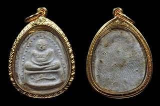 LP Kuay Phra Sangkacai, Wat Nong Ee Duk, BE2515, encased 90% gold casing waterproof