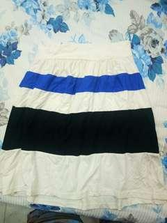 Strips white blue and black